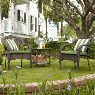 Juego de conversación para exteriores Garden Treasures Severson de 3 piezas ...