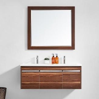 """Adalynn, tocador de baño doble de 47.2 """"con espejo"""