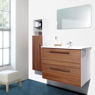 """Auten Modern - Juego de tocador de baño individual montado en la pared de 32 """"con espejo"""