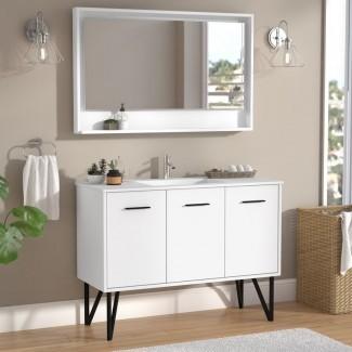 Almaraz 47 Juego de tocador para baño individual con espejo