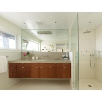 grifos de baño modernos-baño-mediados de siglo-con-flotación ...