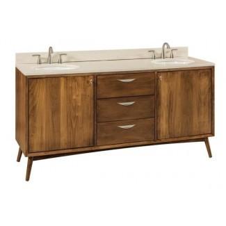 Vanidad de baño moderna de mediados de siglo de DutchCrafters ...