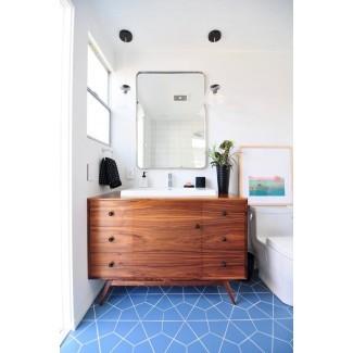 14 ideas modernas de azulejos de baño de mediados de siglo | Hunker