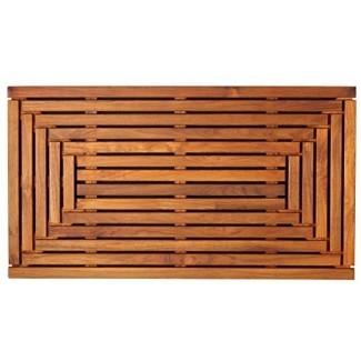 "Bare Decor Giza Shower, Spa, felpudo en madera maciza de teca y acabado aceitado 35.5 ""x 19.75"""