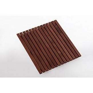 Ducha / baño / alfombrilla de teca engrasada estilo nórdico 19.6 ″ x 19.6 ″