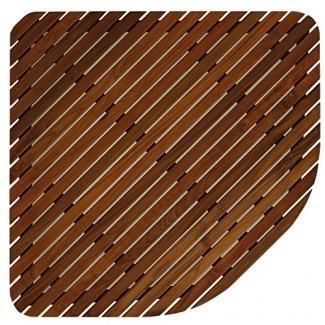 Bare Decor 30 por 30 - Alfombrilla de baño para ducha Erika Corner, de pulgada, en madera de teca sólida y acabado aceitado, X-Large