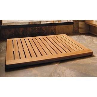 """Nueva alfombra de piso de madera de teca de grado A grande de 30 """"x24"""" / ducha / spa / baño #WHAXLFM"""