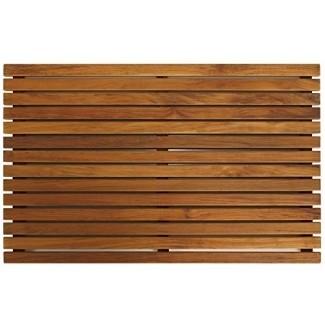 Desnudo decoración Zen Spa ducha o felpudo en madera maciza de teca y acabado aceitado, 31.5 por 19.5 pulgadas