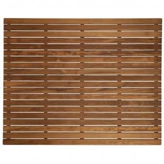 Alfombrillas de baño de teca grandes con acabado de madera - Envío GRATUITO