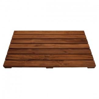 Alfombra de ducha de madera de teca Conair