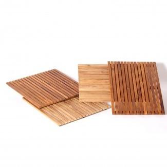 Alfombra de baño de teca Las mejores 28 imágenes del baño de madera