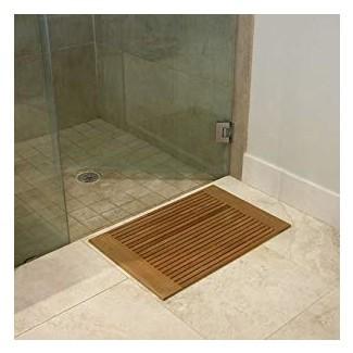 Amazon.com: alfombra de baño de madera de teca Westminster: hogar y cocina