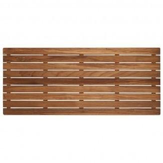 Alfombra de baño ancha de madera de teca - Envío GRATUITO