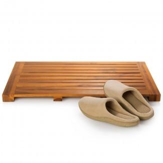 "Alfombra de baño de madera de teca sólida de 24 ""x 16"" - Molde"