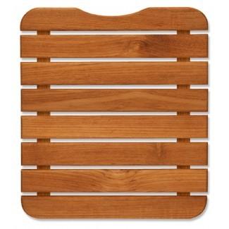 Mini alfombra de baño de madera de teca