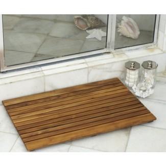 Alfombrillas de madera de teca africana para baño y ducha - Tropical ...