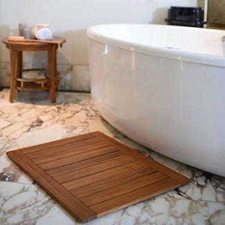 El valor de una alfombra de baño de madera de teca - Teca