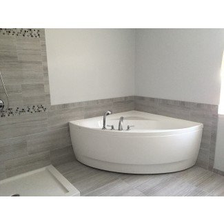 Bañera de acrílico de esquina pequeña Aquatica Olivia-Wht