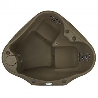Seleccione 300 bañera de hidromasaje Plug and Play de 2 personas con 20 chorros inoxidables y cascada LED