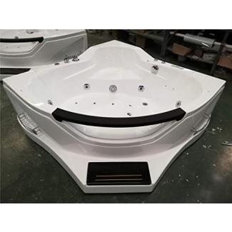 SDI Factory Direct 2 Person Corner Hidroterapia Bañera de hidromasaje Spa Masaje terapéutico Bañera de hidromasaje con calentador, Bluetooth, luces LED - SYM084A