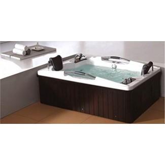 SDI Factory Direct 2 personas Hidroterapia Bañera de hidromasaje Bañera de hidromasaje Spa Terapia de masaje Bañera de hidromasaje con calentador, Bluetooth, control remoto - SYM085A