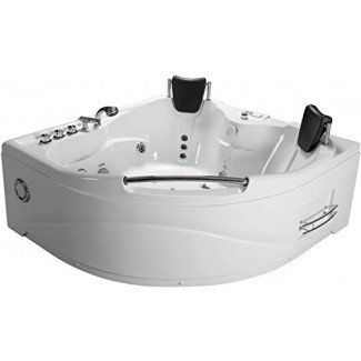 SDI Factory Direct - Bañera de hidromasaje con hidromasaje para 2 personas, interior - 005A - Blanco