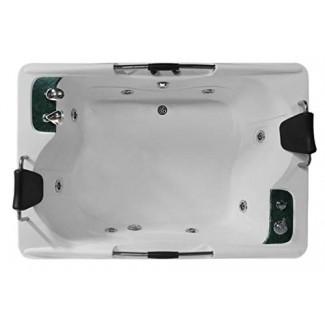 Bañera de hidromasaje de masaje independiente para 2 personas Bañera de hidromasaje Spa, con Bluetooth, Calentador en línea y 17 chorros
