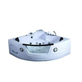 Bañera de hidromasaje de hidromasaje con hidromasaje para 2 personas con bañera de hidromasaje blanca con control remoto, control remoto, calentador de agua en línea y tubo de ducha </div> </p></div> <div class=