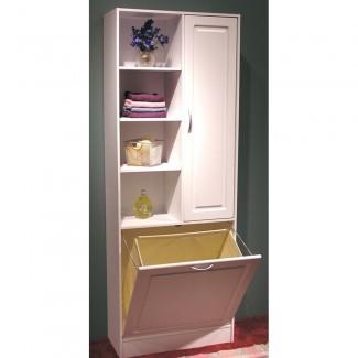 Gabinete de lino con cesto de ropa