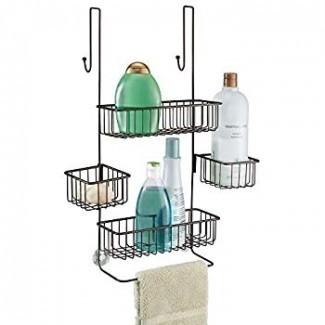 Amazon.com: InterDesign Metalo Baño sobre la puerta ...
