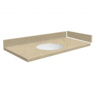 """Newport - Tope para tocador de baño individual, superficie sólida, 43 """""""