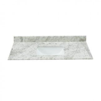 Compre Bestview Glacier White Granite Undermount Single Sink ...