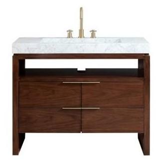 43 Lavabo de baño con tocador superior -