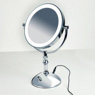 Espejo de maquillaje profesional con luz Led Compact de 8 pulgadas ...