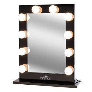 Impresiones Vanity Hollywood Studio XL Maquillaje iluminado Vanity Espejo retrovisor con bombillas Globe