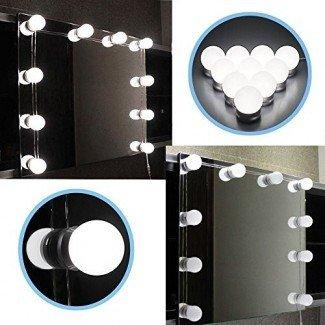 Kit de luces de espejo de vanidad LED Chende Hollywood Style con bombillas regulables, tira de accesorios de iluminación para tocador de maquillaje en vestidor
