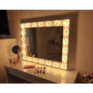 Hollywood iluminó el espejo de maquillaje con espejo de maquillaje grande con