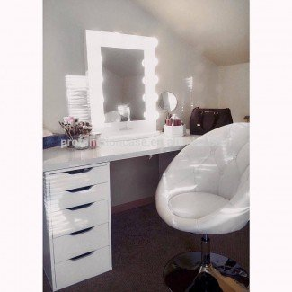 Espejo de maquillaje con luces LED, tocador, motor libre ...