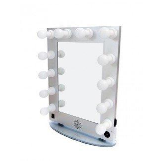 Professional 12 Bulb Silver Hollywood Mirror Vanity Makeup ...