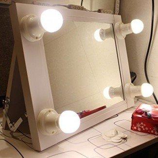 Espejo de maquillaje Chende White Hollywood con luces Illuminate Vanity Make Up Beauty Mirror