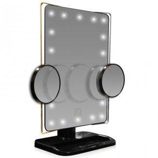 L.E.D. Espejo de vanidad con aumento 10X iluminado / móvil