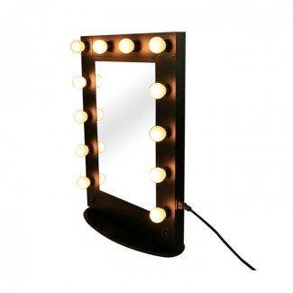 Espejo de maquillaje con luces Hollywood Style - Mugeek Vidalondon