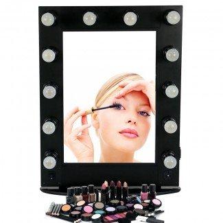 Espejo de maquillaje profesional de aluminio estilo Hollywood con ...