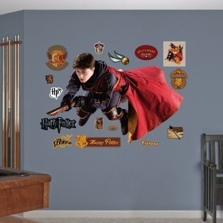 Etiqueta de pared de Harry Potter Quidditch Seeker Peel and Stick