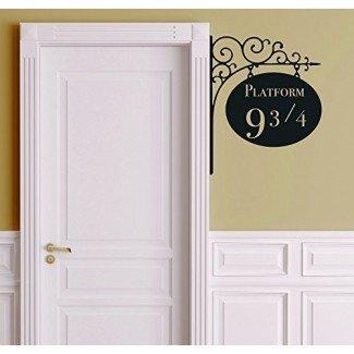 Leisure4U Platform 9 3/4 Harry Potter Door Nursery Wall Decor Sticker Decal Vinilo removible Nombre Wall Art Decal