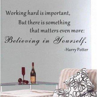 Creyendo en ti mismo - Calcomanía de pared de Harry Potter