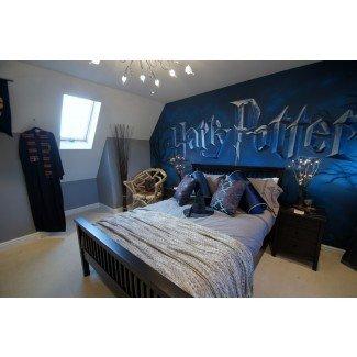 Habitación mural de Harry Potter   Habitación mural para niños basada en