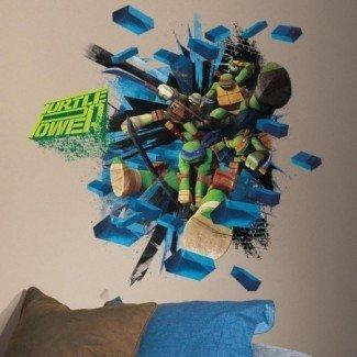 Teenage Mutant Ninja Turtles Brick Poster Giant Wall Decal ...