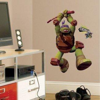 CALCOMANÍAS DE PARED DONATELLO gigantes Tortugas ninjas mutantes adolescentes ...