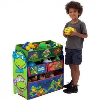 Delta Nickelodeon Teenage Mutant Ninja Turtles Multi-Bin Organizador de juguetes, verde